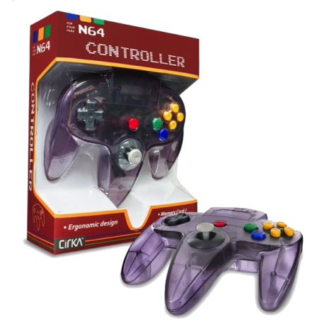 N64 Handkontroll (Atomic Purple) Ny