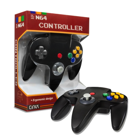 N64 Handkontroll (Black) New