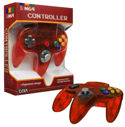 N64 Handkontroll (Fire orange) Ny