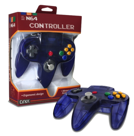 N64 Handkontroll (Grape) Ny