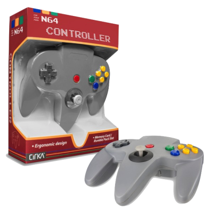 N64 Handkontroll (Grey) New