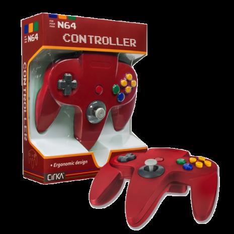 N64 Handkontroll (Red) Ny