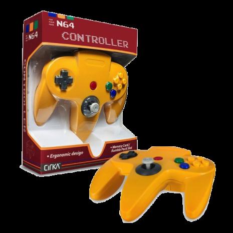 N64 Handkontroll (Yellow) Ny