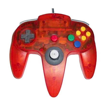 Nintendo 64 Handkontroll Fire Orange Transparent beg