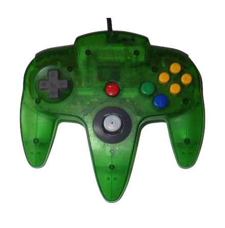 Nintendo 64 Handkontroll Grön/Jungle Green Transparent beg