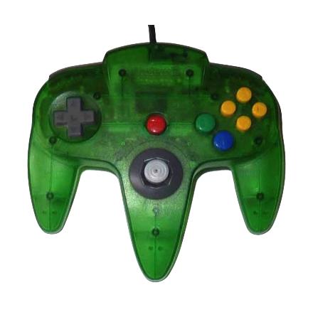 Nintendo 64 Handkontroll Grön/Jungle Green Transparent beg