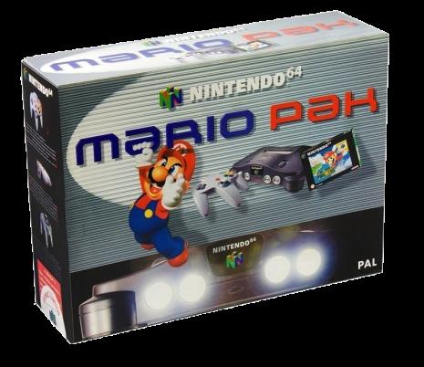 Nintendo 64 basenhet Grå Mario Pak