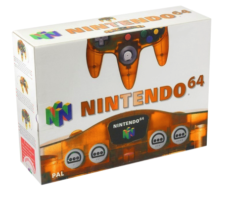 Nintendo 64 basenhet Clear Fire Orange