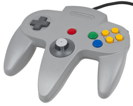 Nintendo 64 Handkontroll Grå/Gray original Beg