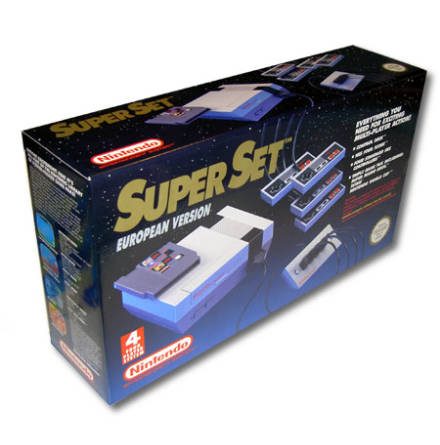 Nintendo Super Set: incl. Console, 4 Controllers, SMB/Tetris/WC, 4-player adapter