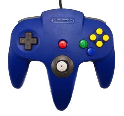 Nintendo 64 Handkontroll Blå/Blue beg original