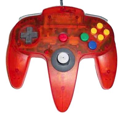 Nintendo 64 Handkontroll Fire Orange Transparent beg