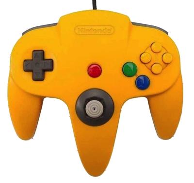Nintendo 64 Handkontroll Gul/Yellow beg